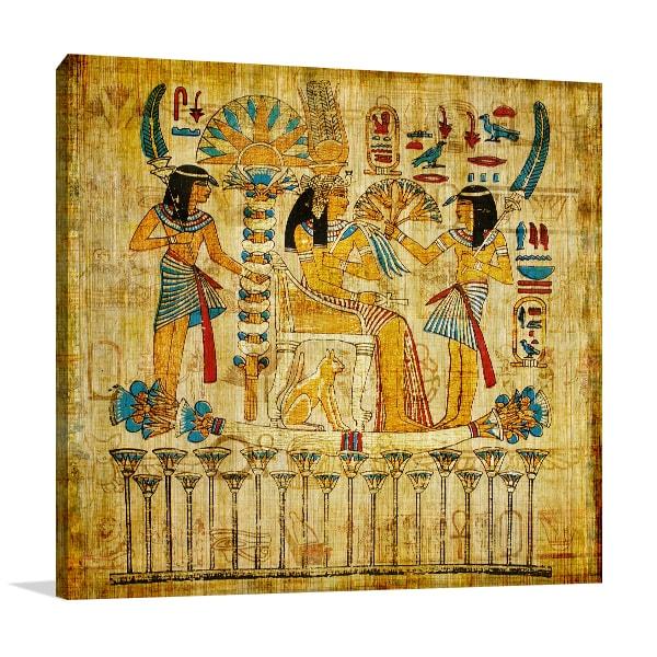 Old Papyrus Canvas Art Prints