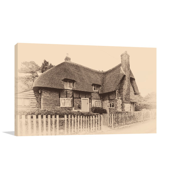Old Sepia House Canvas Art