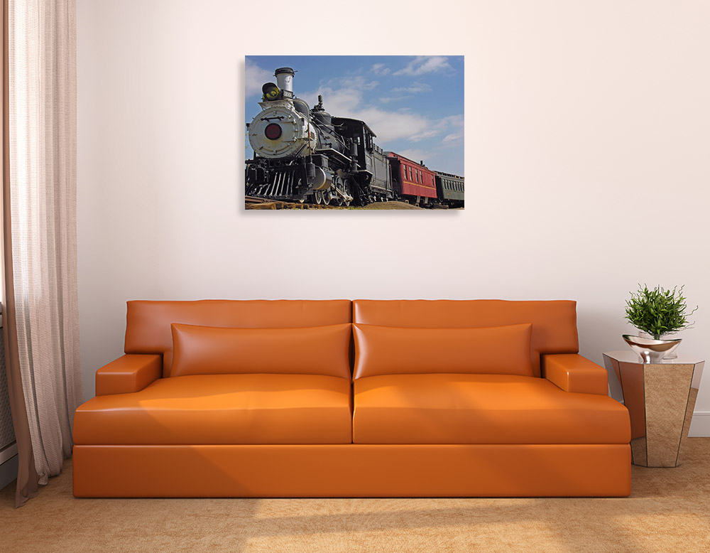Old Style Train Print Canvas