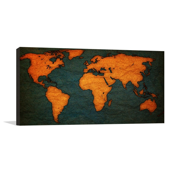 Old Territorial Map Prints Canvas