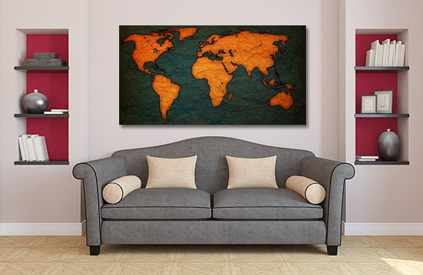 Old Territorial Map Canvas Prints