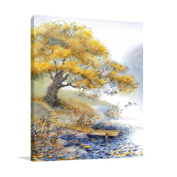 Old Yellowed Tree Art Prints