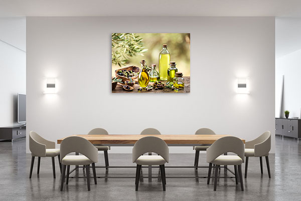 Olive Oil And Berries Canvas Prints
