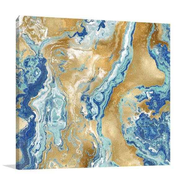 Onyx Aqua Wall Art Print