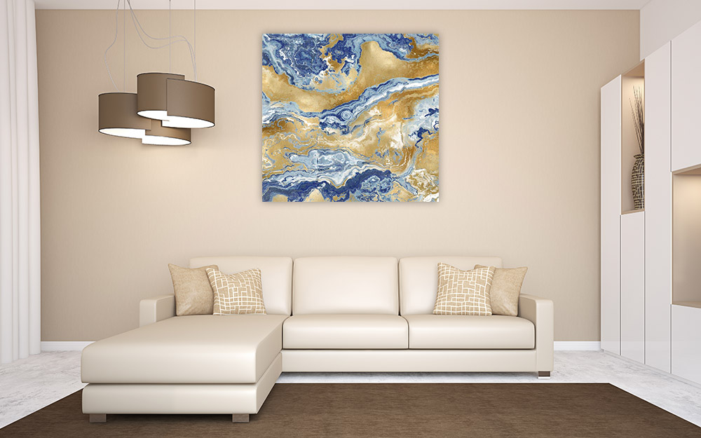 Fluid Marble Canvas Wall Print