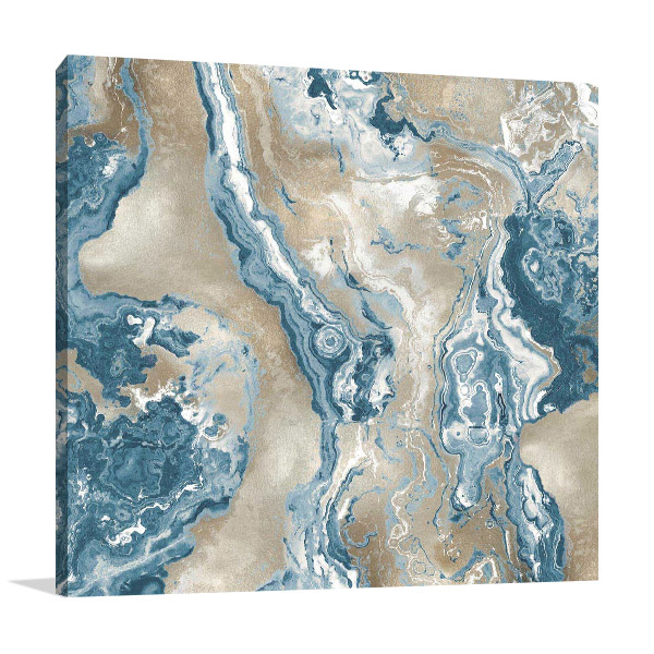 Onyx Teal Wall Print on Canvas
