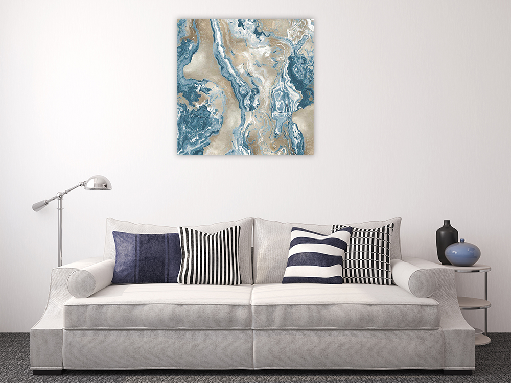 Square Teal Canvas Print