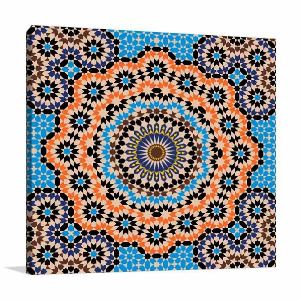 Orange and Blue Element Artwork