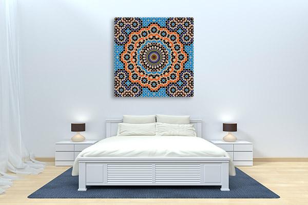 Orange and Blue Element Canvas Prints
