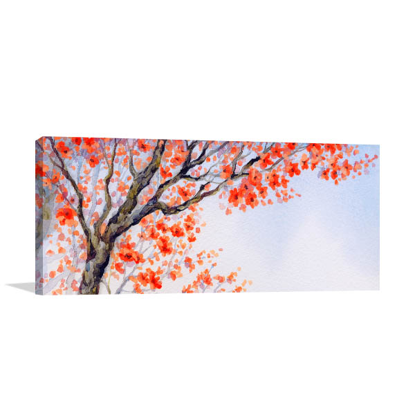 Orange Inflorescence Prints Canvas