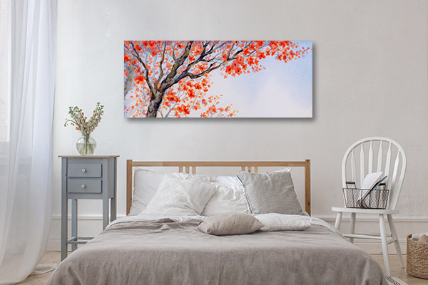 Orange Inflorescence Canvas Prints