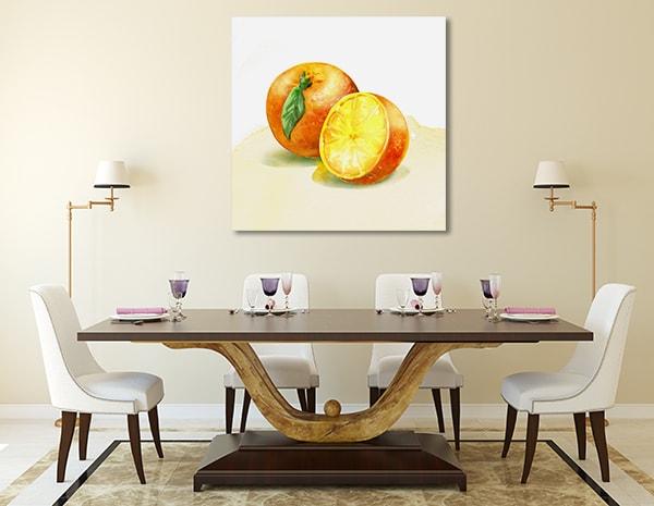 Orange Watercolour Art Prints