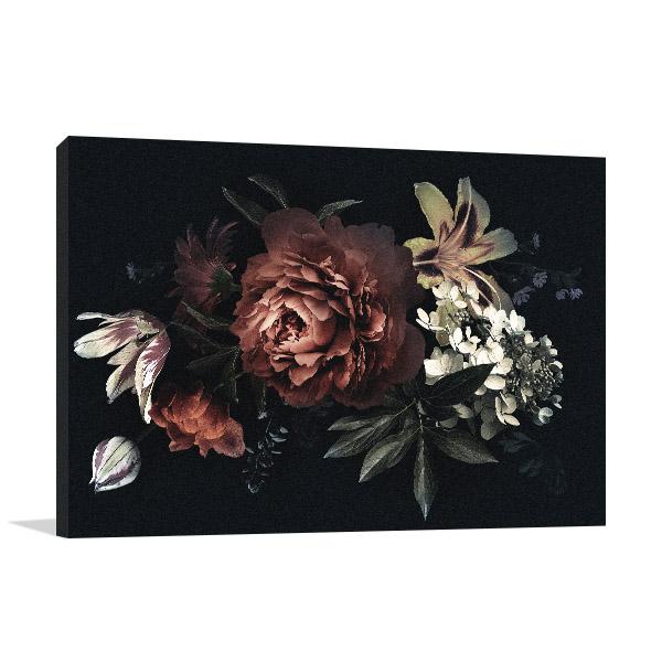 Oriental Bouquet Print Art Canvas