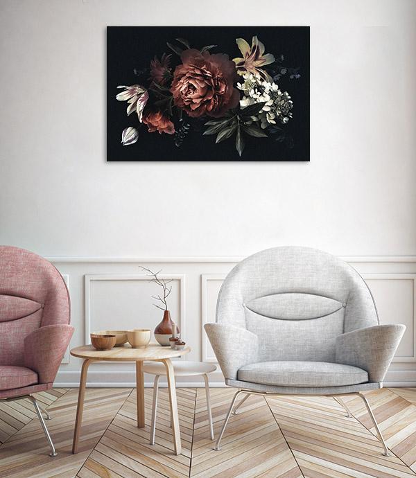 Oriental Bouquet Prints Canvas