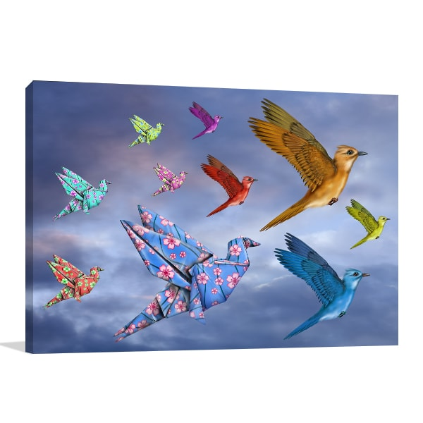 Origami Birds Canvas Art