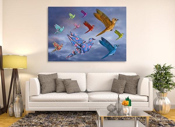 Origami Birds Wall Art Print