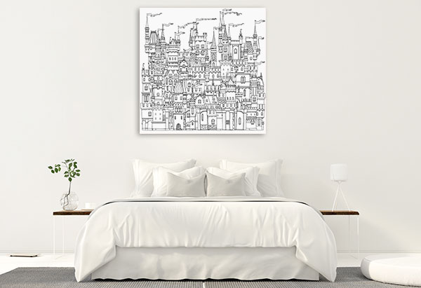 Ornamental Castle Canvas Art