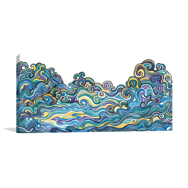 Ornamental Waves Canvas Prints