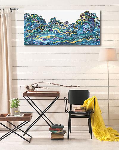 Ornamental Waves Art Prints