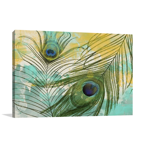 Painted Peacock Art Print | GI Artlab