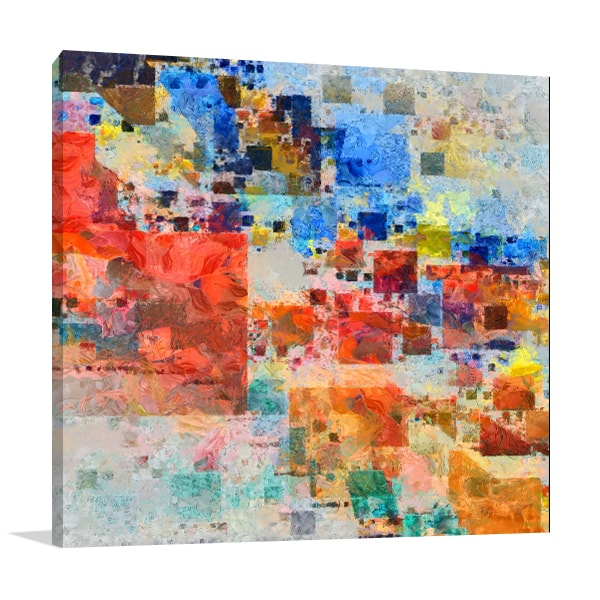 Painterly Block Canvas Art