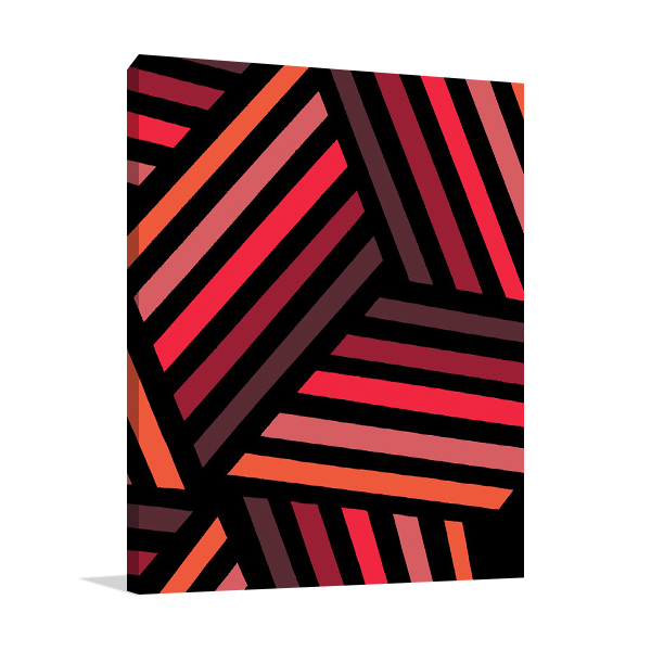 Red Monochrome Patterns IV Wall Art Print