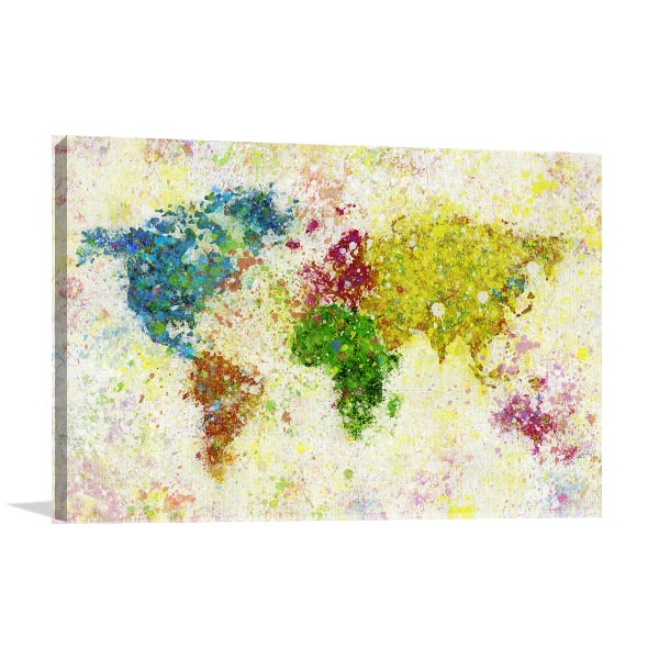 Painting of World Map Art Prints