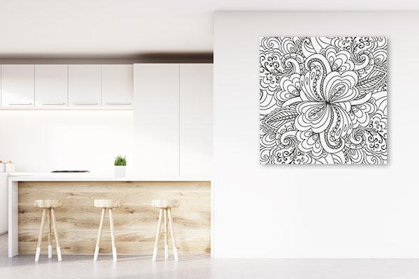 Paisley Pattern Print Artwork