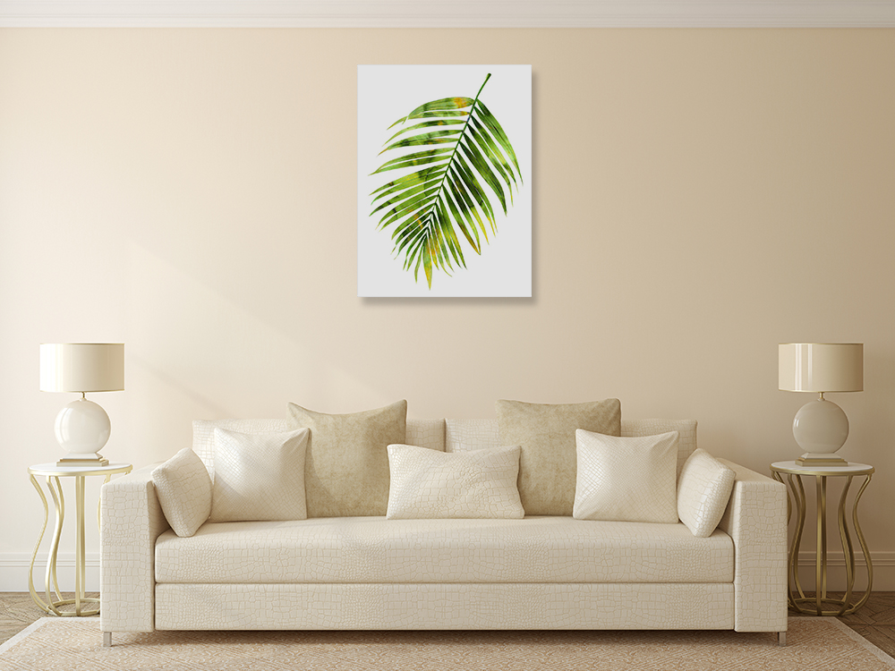 Green Palm Wall Print on Canvas