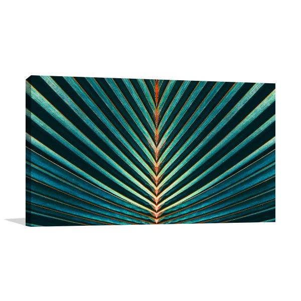 Palm Leaf Wall Art Print Canvas Art