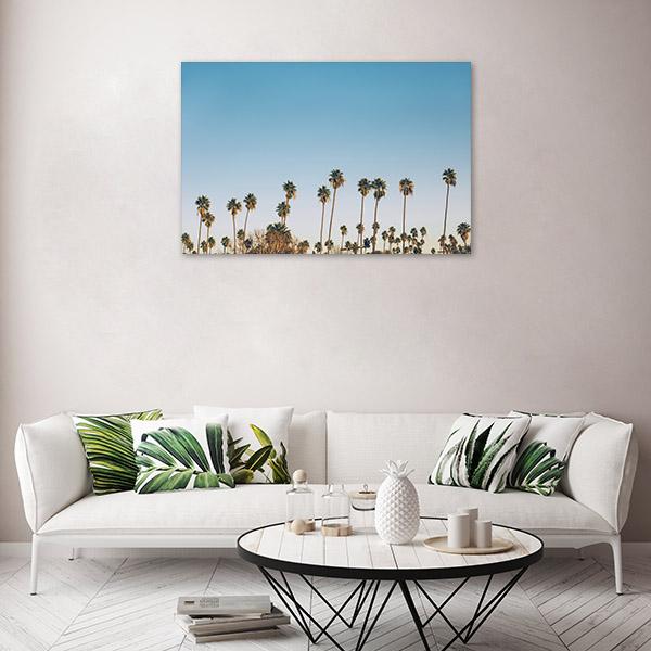 Palm on the Blue Sky Print Artwork