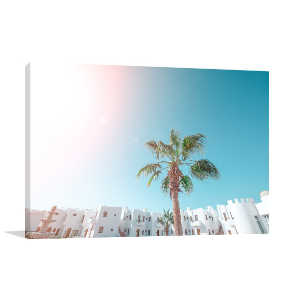 Palm Tree Tropical Coast Picture Canvas