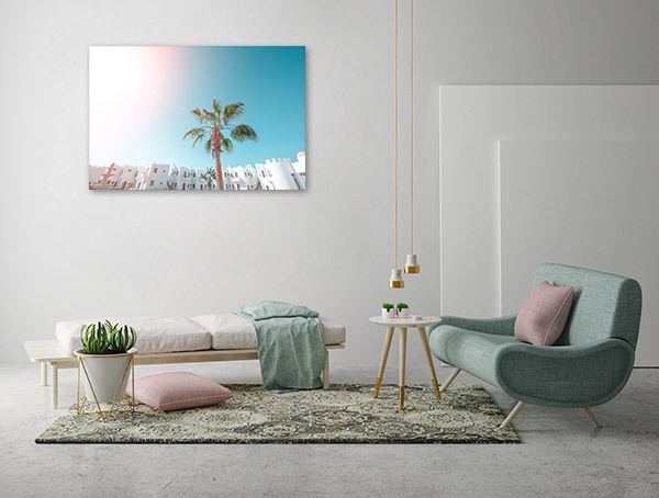 Palm Tree Tropical Coast Print Art Canvas