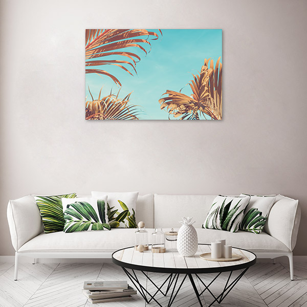 Palm Tree with Sun Light Wall Art Print