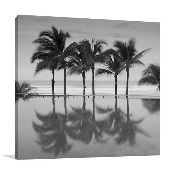Palm Trees Serenity Wall Print