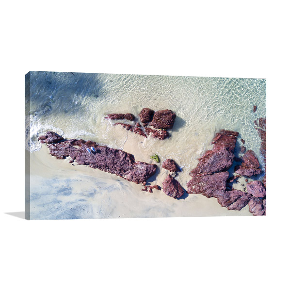 Pambula Beach Canvas Print Aerial NSW Photo Wall Arts