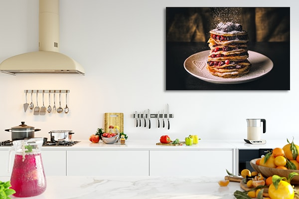 Pancake with Berries Prints Canvas