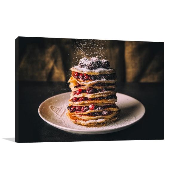 Pancake with Berries Print Artwork