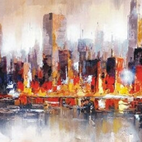 Hand Painted Panoramic Oil Paintings on Canvas