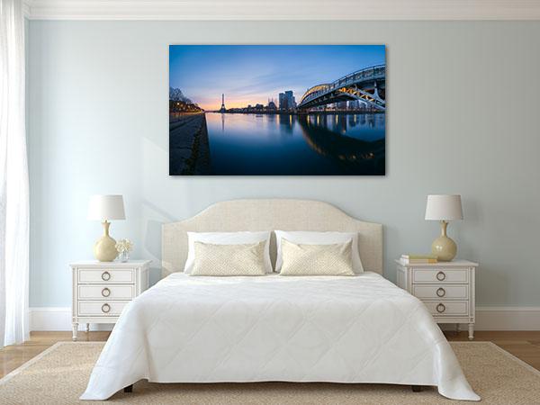 Panoramic River of Paris Canvas Prints