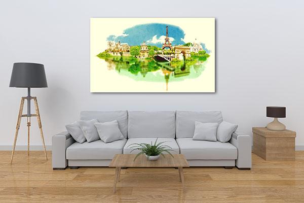 Panoramic View Watercolor Wall Art