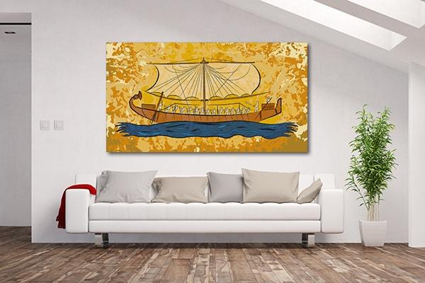 Papyrus Boat Canvas Prints