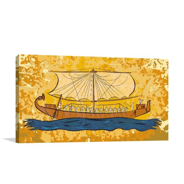 Papyrus Boat Wall Art