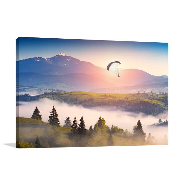 Paraglide Silhouette Wall Art