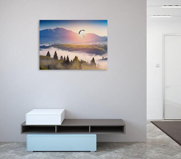 Paraglide Silhouette Canvas Prints
