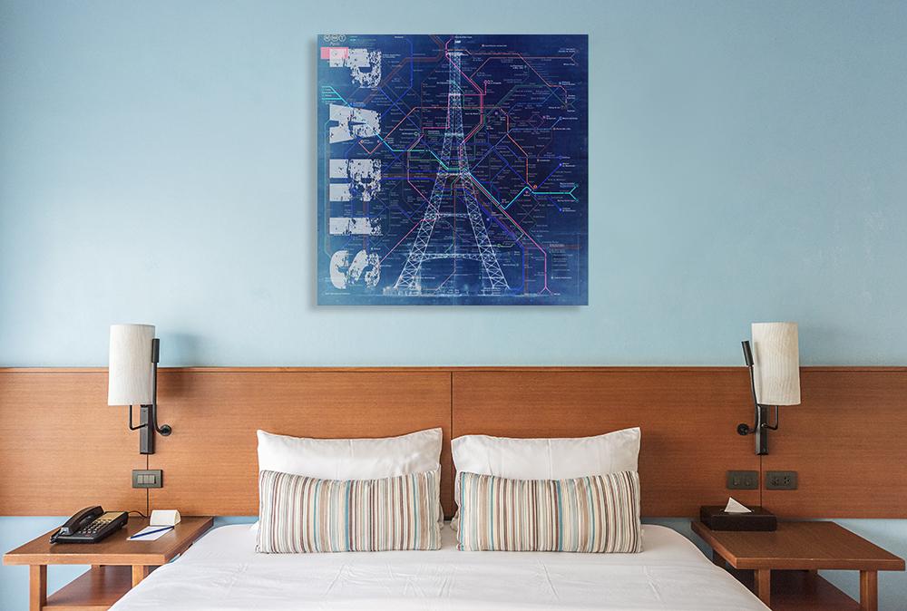 Square Living Room Wall Print