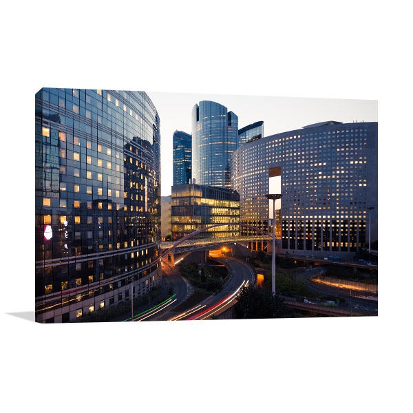 Paris Business District Wall Art