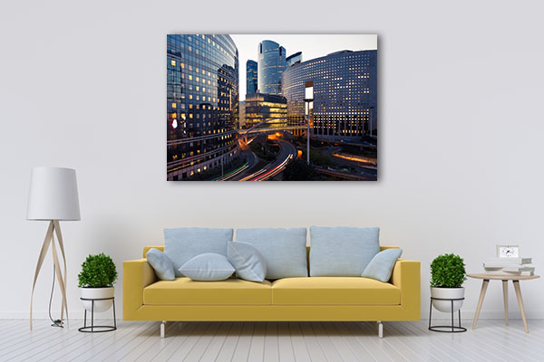 Paris Business District Prints Canvas