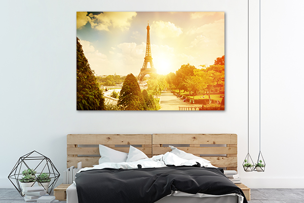 Paris Canvas Art Print on the wall