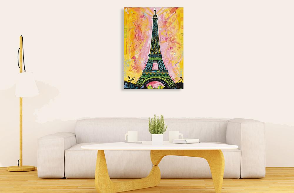 Portrait Paris Canvas Art Print